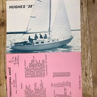 Vintage Sailboat Dealer Sales Brochure Prices Hughes Boat Works 38 Boating  Ad