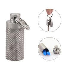 Titanium Waterproof Mini Pill Case Box Bottle Outdoor Travel Emergency Gear Exot