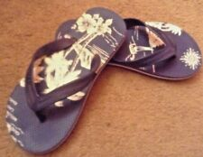 gap girls BOYS FLIP FLOPS SZ lg 1 2 hawaii Design navy blue white euc lkn