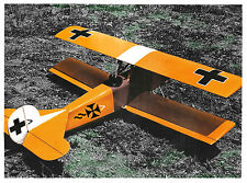 Fokker DVII Airplane Plan on CD Intermediate Sport WW I  Bi-Plane+Bonus