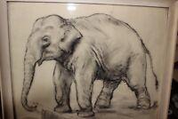 Zeichnung Elefant , Oskar Frey,1883 Stuttgart - 1966 Ebingen. 43 x 36,5 cm