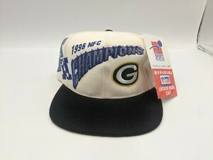 VTG NWT Sports Specialties Green Bay Packers 1996 NFC Champions Snapback Hat NOS