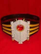 POWER RANGERS BELT Samurai Shogun Buckle MMPR Bandai NO DISC Works red vintage