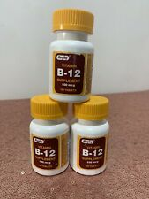 (PACK OF 3)Rugby Vitamin B-12 supplement 100 mcg 300 tablets *p