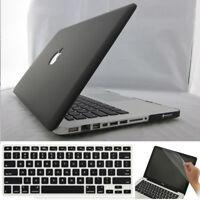 "3in1 Black Rubberized Hard Case Matt Cover for Macbook Air 11""/ Pro 13 15 Retina"