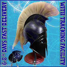 Medieval Greek Corinthian Helmet with Leather Liner ~ Roman Knight Spartan Helm