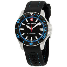 Wenger SEA Force Stainless Steel Black Dial Watch 010621106