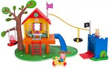 Peppa Pig's Treehouse and George's Fort Playset Richard Rabbit Pretend