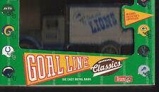 DETROIT LIONS DIE CAST METAL COIN BANK NFL TRUCK NEW IN BOX 1993 ERTL