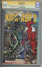 KICK-ASS 2 #5 SS CGC 9.8  VARIANT COVER  AUTO JOHN ROMITA JR