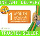 Xbox Live 1 Month Gold Membership (2x 14 Day!) Microsoft Xbox One / Xbox 360