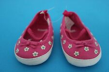 Gymboree Infant BABY Girl Ballet Crib SHOES ~Pink with Tiny White Flowers~Size 1