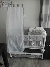 ROBA Stubenwagen Beistellbett Wiege Babybett grau/weiß Miffy