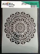 Stencil by Aurora Arts A4 (29x21cm) Mandala 190mic Mylar craft stencil 0166