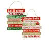 Christmas Slat Board Sentiments Hanging Signs Let it Snow Snowman Jingle Bells