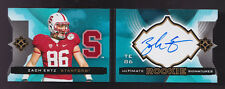 2013 UD Ultimate Collection Zach Ertz Auto Rc Booklet Serial # 46/199