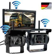2 x Kabellose Rückfahrkamera + Funk Monitor Rückfahrsystem Drahtlos LKW 12V 24V