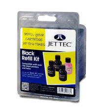 Jet Tec R26 Black Refill Kit bottles For Brother Canon Dell Epson HP Lexmark