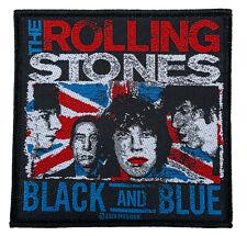(SP3037)The Rolling Stones Black And Blue Aufnäher Patch Gewebt & Lizenziert !!