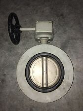 "ACE 200mm (8"" approx) Butterfly Valve NBR Seat Stainless Disc Gear Operator"