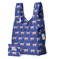 Genuine Baby Baggu riutilizzabile Pieghevole Shopping Bag Tote Grocery Beach Cobalto CAT
