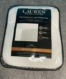 Ralph Lauren King Mattress Pad 78X80 Bronze Comfort Lite-Loft New