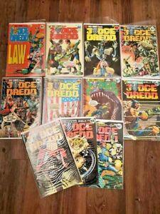 Eagle Comics Judge Dredd Series 1 issues #1-#11,Wagner,Bolland artwork,must-see!