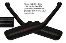 Orange stitch 2x poignée de porte accoudoir peau couvre fits PONTIAC FIREBIRD 90-92
