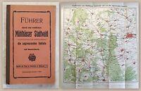 Führer durch den westlichen Mühlhäuser Stadtwald 1912 Wanderkarte Mühlhausen xz