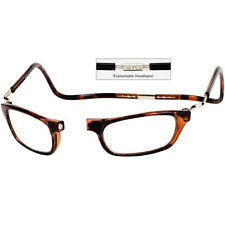 CliC +3.0 Diopter Magnetic Reading Glasses Expandable, Tortoise, Cheaters, Specs