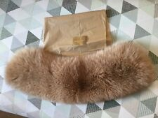 Burberry London exclusif de la paix BLUE FOX Fur stole & Carreaux Motif Doublure
