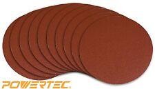 POWERTEC 110600 12-Inch PSA 80 Grit A/O Sanding Disc, Self Stick, 10-Pack