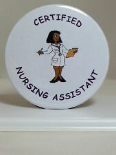 CERTIFIED NURSING ASSISTANT BUTTON -NEW UNIQUE FUN GIFT(S) - BLACK FEMALE CNA