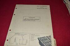 John Deere 20 Rear Mounted Scoop Dealer's Parts Book Manual PANC