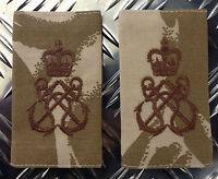 Genuine British Army Desert Camo PETTY OFFICER Rank Slides - NEW x 100 Pairs