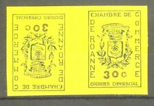 """FRANCE STAMP TIMBRE GREVE 14 """"CHAMBRE COMMERCE ROANNE,TETE BECHE"""" NEUFS xx SUP"""