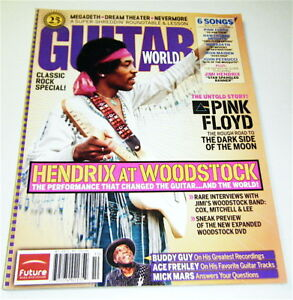 Jimi Hendrix at Woodstock POSTER & His STAR SPANGLED BANNER Sheet Music V.G COND