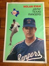 "NOLAN RYAN TEXAS RANGERS Large Baseball Card Poster 1990 24"" X 36"" RARE"