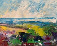 Sea Shore Ocean Landscape Oil Painting Seascape Collectable Texture Impasto