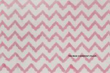 100% Cotton Fabric Chevron Zig Zag Lines 112cm Wide Chevrons Crafty Block Print