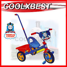 NEW THOMAS THE TANK TRICYCLE KIDS RIDE ON TRIKE with PARENT STEERING HANDLE