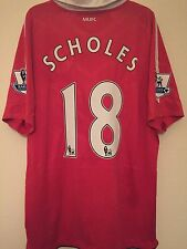 Manchester United Scholes #18 Soccer Jersey Football Jersey Men's L
