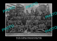 OLD POSTCARD SIZE PHOTO SOUTH AUSTRALIAN MILITARY BOER WAR TROOPS SS MEDIC 1899