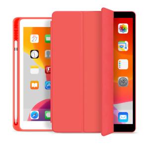 Soft TPU Pencil Holder Smart Trifold Flip Case Cover iPad mini pro air 10.5, 9.7
