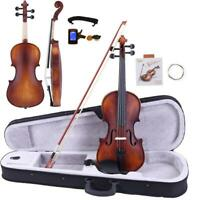 Glarry 4/4 Classic Solid Wood adult Retro Acoustic Violin+Case+Bow+Rosin+Tuner