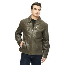 NEW Marc New York Andrew BROWN S Romney Distressed Real Leather Jacket ($595)