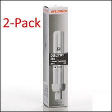 2x Sylvania 20673 26W 4Pin G24q-3 Double Tube CFL Light Bulb 3500K Warm White