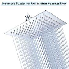 Rain Shower Head Bathroom Rainfall Spray Square 304 Stainless Steel 8 10 12 inch