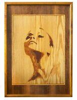 Ritratto di una ragazza Intarsio eco-friendly pannello in legno decorazione...