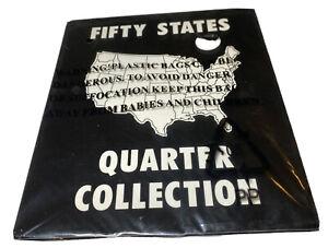 Commemorative State Quarters Black White Album 50 States Coin Slot Holder Album